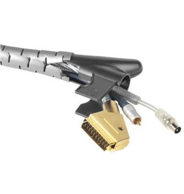 Kabelbündelschlauch EasyCover silber D.20mmL:2,5m PE