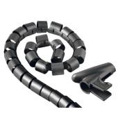 Kabelbündelschlauch EasyCover schwarz D.20mmL:2,5m PE