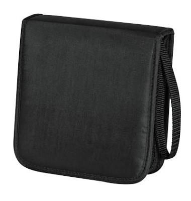 CD/DVD-Wallet 20 schwarz für 20 CDs Nylon