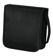 CD/DVD-Wallet Nylon 40 m.Tragegurt schwarz 16,4x17x6cm f. 40CDs