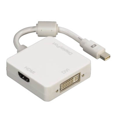 3in1-Mini-Display Port-Adapter weiß Displayport DVI/HDMI