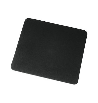 Mauspad Textiloberfläche schwarz 22x18cm