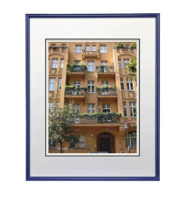 Bilderrahmen Sevilla blau 21 x 29,7 cm PS-Glas