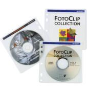 CD/DVD-Hüllen 100 Stück für je 2 CDs transparent/weiß Multi-Lochung mit Vlies