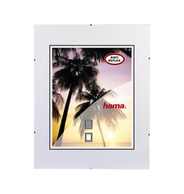 Rahmenloser Bilderhalter Clip Fix antireflex 21 x 29,7cm