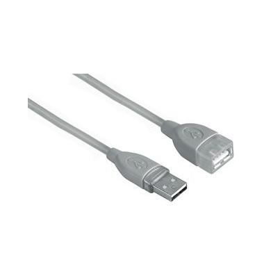 USB-Verlänger.kabel A-Stecker grau A-Kupplung 5,0m
