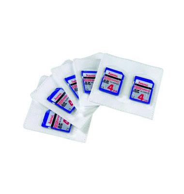 Speicherkartenhüllen selbstklebend für SD-Karten PP 75x70mm 5 Stück