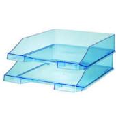 Briefablage 1026 A4 / C4 blau-transparent stapelbar