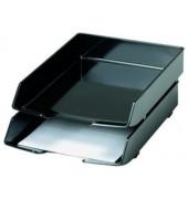 Briefablage 1028 Wave Exclusiv A4 / C4 schwarz stapelbar