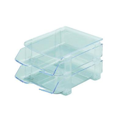 Briefablageset 1042 A4 / C4  glasklar 2 Körbe