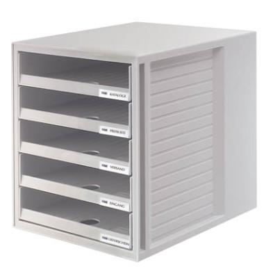 Schubladenbox Schrank-Set lichtgrau 5 Schubladen