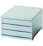 Schubladenbox Contur 1503-11 lichtgrau/lichtgrau 3 Schubladen geschlossen