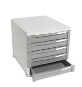 Schubladenbox Contur dunkelgrau/dunkelgrau 5 Schubladen geschlossen