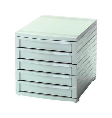 Schubladenbox Contur 1505-11 lichtgrau/lichtgrau 5 Schubladen geschlossen
