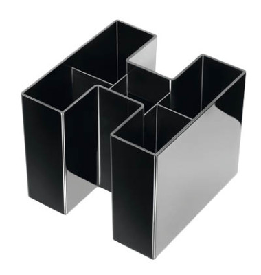 Stifteköcher Bravo 5 Fächer schwarz 109x109x90mm