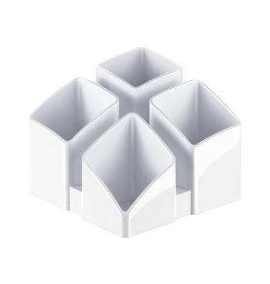 Stifteköcher Scala 4 Fächer weiß 125x125x100