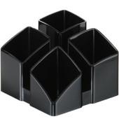 Stifteköcher Scala 4 Fächer schwarz 125x125x100