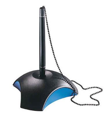 Kugelschreiberständer DELTA schwarz/blau