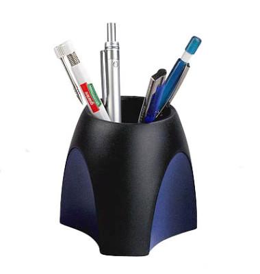 Schreibgeräteköcher DELTA bl/sw 95x95x88mm