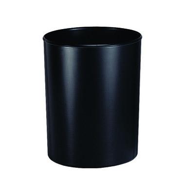 Papierkorb 1814, 13 Liter flammhemmend mit Alu-Einlage schwarz