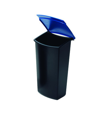 Abfalleinsatz MONDO 3 Liter blau mit Deckel