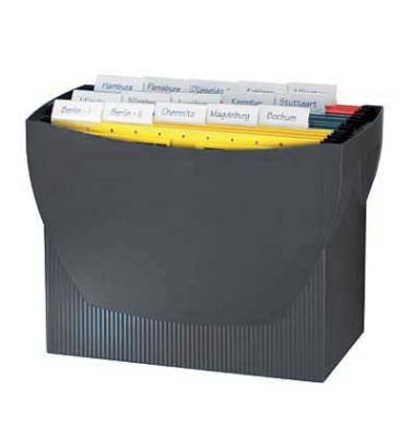Hängemappenbox Swing 1900 schwarz bis 20 Mappen leer