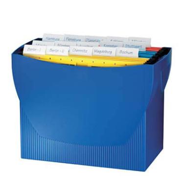 Hängemappenbox Swing 1900 blau bis 20 Mappen leer