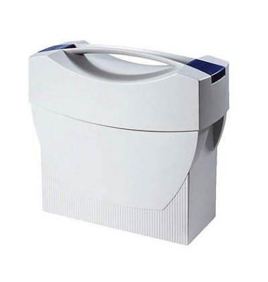 Hängemappenbox SWING mit Deckel für A4 grau 397x154x347mm Kunststoff