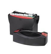 Hängemappenbox SWING mit Deckel für A4 schwarz 397x154x347mm Kunststoff