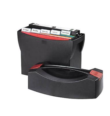 Hängemappenbox Swing 1901 mit Deckel schwarz bis 20 Mappen leer stapelbar