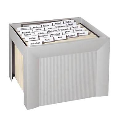 Hängemappenbox Karat 1905 lichtgrau bis 35 Mappen leer stapelbar