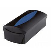 Visitenkartenbox VIP f.500 Ka. SW/BL 120x255x80mm mit Reg.