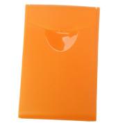 Visitenkartenbox für 20 Karten orange 90x54x4mm Cognito