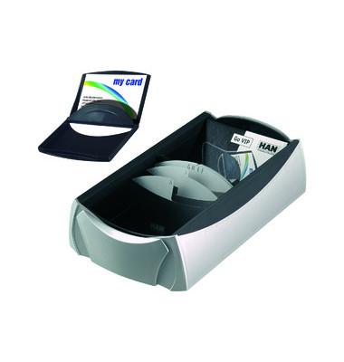 Visitenkartenbox VIP silber 120x255x80