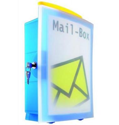 Sammelbox IMAGE-IN mit Wandbefestigung blau 260x128x375mm inkl 2 Schlüssel