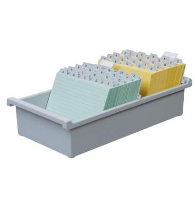 Karteikasten ohne Deckel A4 für 1300 Karten lichtgrau