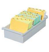 Karteikasten ohne Deckel A6 für 1300 Karten lichtgrau