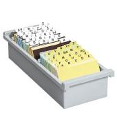 Karteikasten ohne Deckel A7 für 1300 Karten lichtgrau