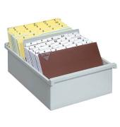Karteikasten ohne Deckel A5 für 800 Karten lichtgrau