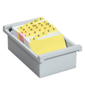 Karteikasten ohne Deckel A7 quer für 800 Karten lichtgrau