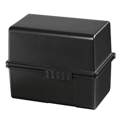 Karteibox A8 quer für 200 Karten schwarz