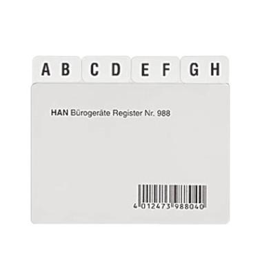 Kartei Leitregister A8 quer A-Z
