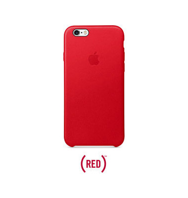 Case f. iPhone 6s rot Leder