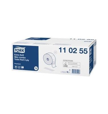 Toilettenpapier Premium Mini Jumbo 110255 T2 3-lagig 12 Rollen