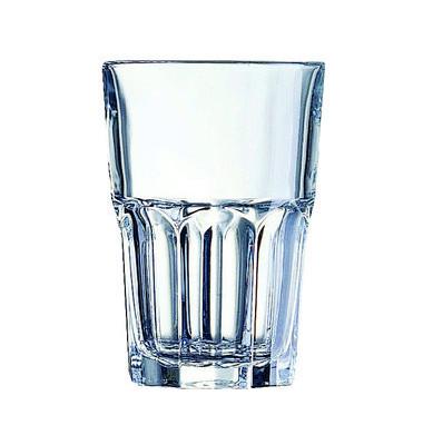 Trinkglas Granity 310ml Glas 74x140mm 6 Stück stapelbar