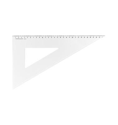 Kunststoff-Zeichendreieck 6031 glasklar 60° 36cm