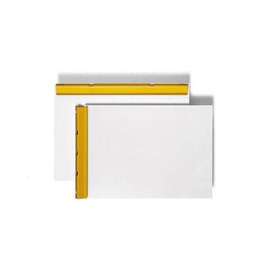 Schreibplatte Klemme kurze Seite weiß A4 Alu 1200100