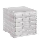 Schubladenbox LightBox transparent 5 Schubladen geschlossen