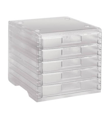 Schubladenbox LightBox transparent 5 Schubladen