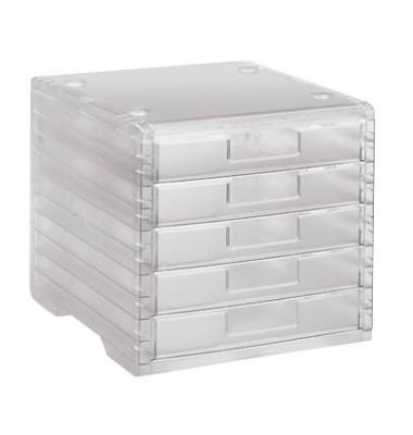 Schubladenbox Lightbox 275-8419.224 transparent/transparent 5 Schubladen geschlossen
